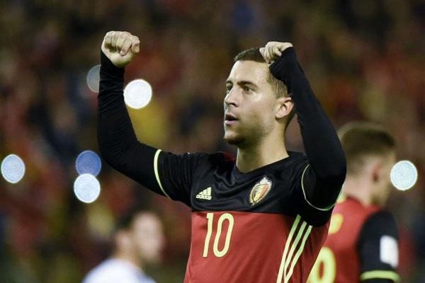 Eden Hazard Pemain Terbaik Belgia