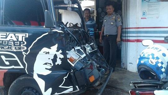 LAMPUNG POST | Kecelakaan di Labuhanratu, Dua Orang Luka-luka