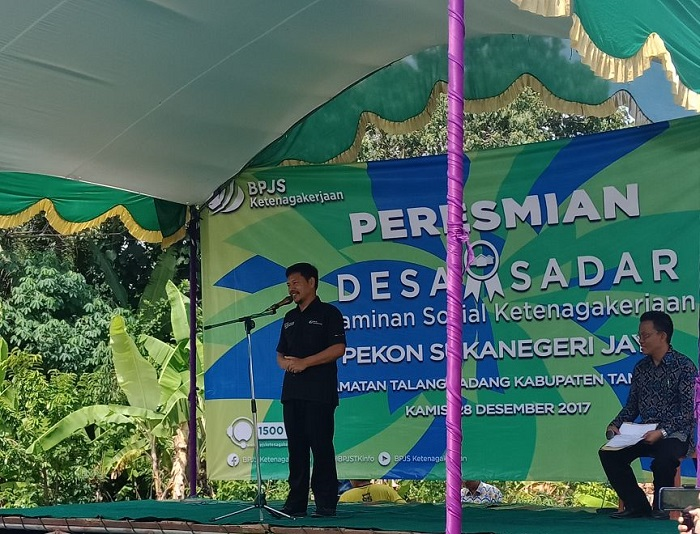Sukanegeri Jaya, Desa Sadar Jaminan Sosial Ketenagakerjaan
