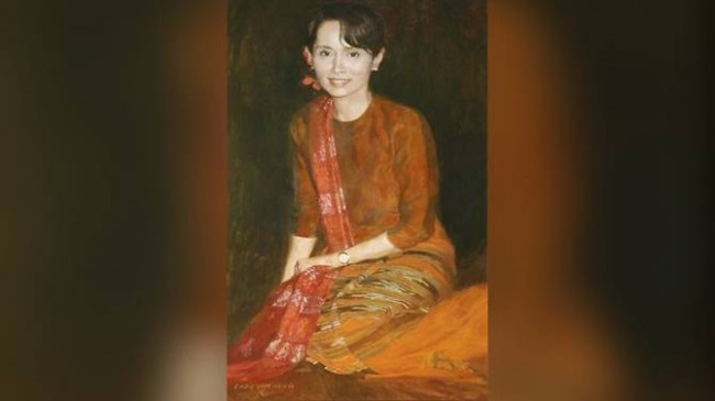 LAMPUNG POST | Oxford Copot Lukisan Aung San Suu Kyi dan Lucuti Penghargaan City of Freedom