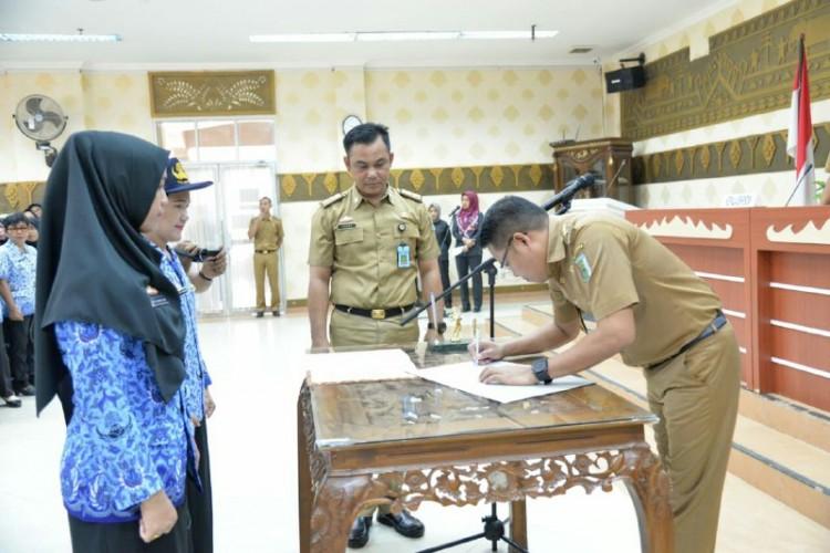 Eriawan Pimpin Pelantikan275 Pejabat Fungsional Pesawaran