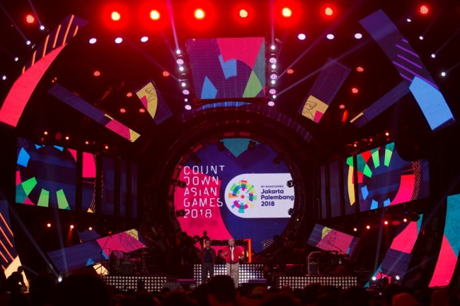 LAMPUNG POST | Presiden Jokowi Resmikan Countdown Asian Games 2018