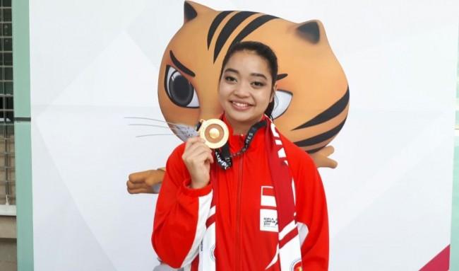 LAMPUNG POST | Giliran Niza Sumbang Medali Emas dari Wushu