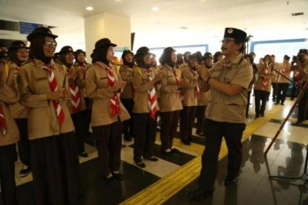 LAMPUNG POST   Pramuka se-Indonesia Dikerahkan Bantu Kelancaran Arus Mudik