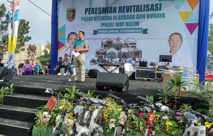 Ridho Resmikan Revitalisasi PKOR Way Halim