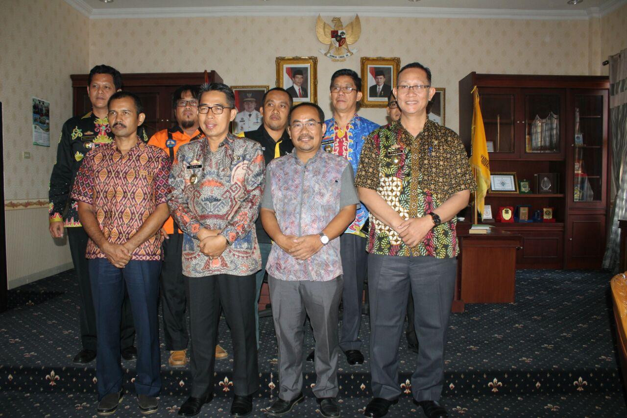 Wakil Bupati Lamtim Audiensi dengan BPKKN Unila