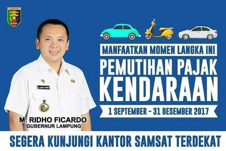 Pemprov Lampung Targetkan Pemutihan Pajak Kendaraan September ini