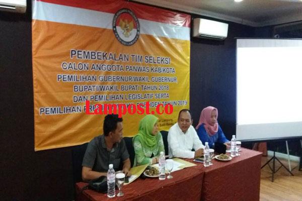 LAMPUNG POST | Timsel Panwaslu 15 Kabupaten/Kota Siap Profesional