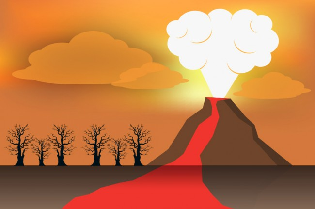 LAMPUNG POST   Hujan Abu, Status Gunung Agung Naik Level III