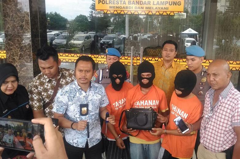 Polisi Bekuk 3 Jambret yang Biasa Beraksi di Sukarame