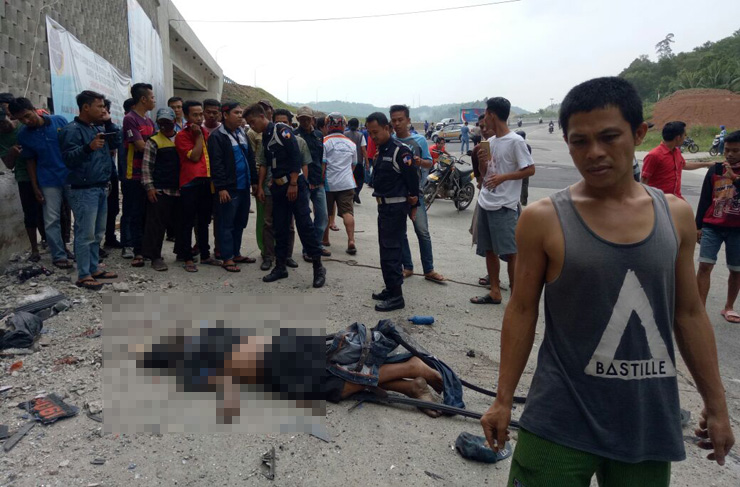 LAMPUNG POST | VIDEO: Tragis! Kecelakaan Maut di Pintu Masuk Pelabuhan Bakauheni