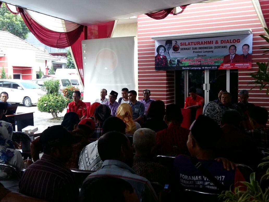 DPD PDIP Lampung Gelar Dialog Bersama Sertani Lampung