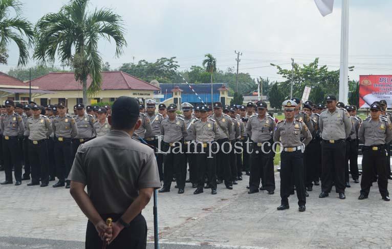 LAMPUNG POST | 275 Polisi Diterjunkan Amankan Pilkakam Serentak di Tuba