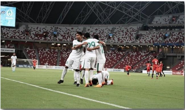 Timnas U-23 Taklukkan Singapura 3-0