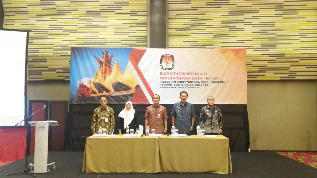 LAMPUNG POST | KPU Lampung Bedah Daftar Pemilih Jelang Pemilu
