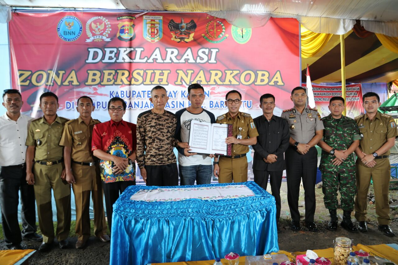 LAMPUNG POST | Kampung Banjarmasin, Baradatu Jadi Zona Bersih Narkoba di Way Kanan