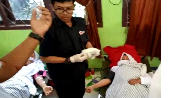 PMR dan PMI Gelar Donor Darah, Kumpulkan 75 Kantong