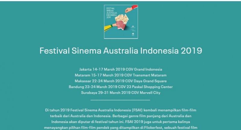Festival Sinema Australia-IndonesiaTayangkan Film Terbaik