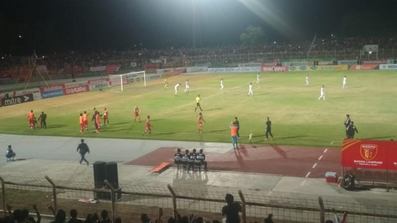 Gol Haryanto Bawa Badak Lampung Unggul 1-0 Atas Persib