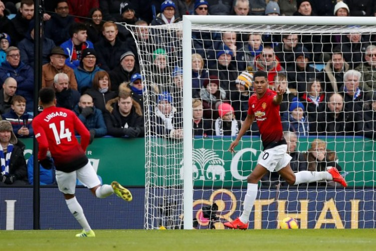 Gol Tunggal Rashford Bawa MU Atasi Leicester