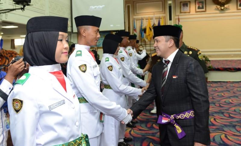 Gubernur Lampung  Kukuhkan Anggota Paskibraka Provinsi Lampung