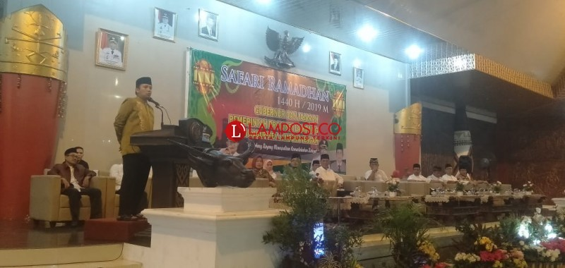 Gubernur Rhido Safari Ramadan ke Lamteng Sekaligus Pamitan