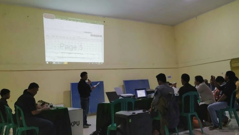 Hasil Pleno, Jokowi-Ma'ruf Amin Raih Suara 68,8% di Sidomulyo