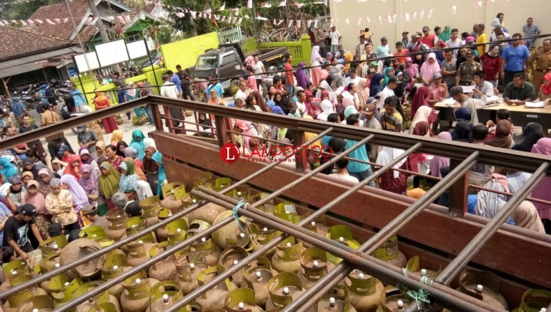 Hiswana Migas Lampung Gelar Operasi Pasar Gas Melon di Lamsel