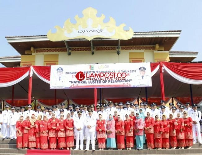 HUT Ke-11, DPRD-Pemkab Pesawaran Gelar Rapat Paripurna
