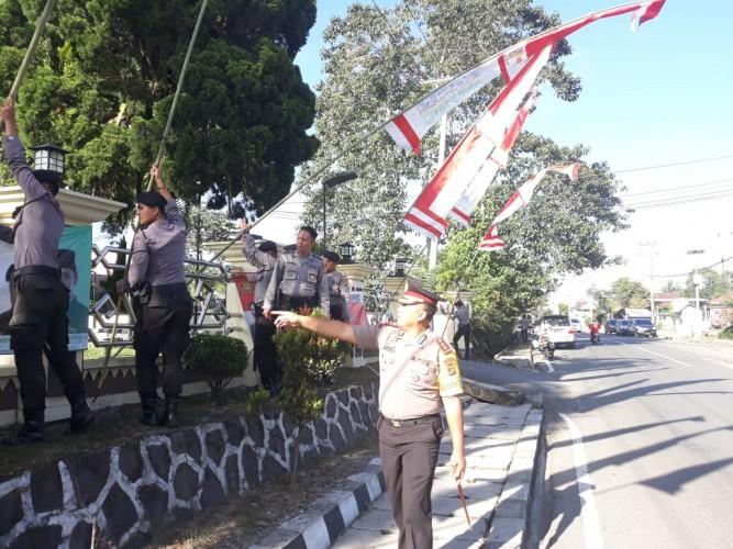HUT RI, Kapolres Lambar Ajak Mengisi Hasil Perjuangan Pahlawan