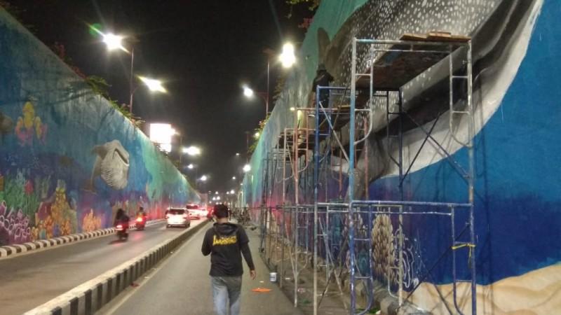 <i>Seniman Mural Underpass  Berharap Kenyamanan</i>