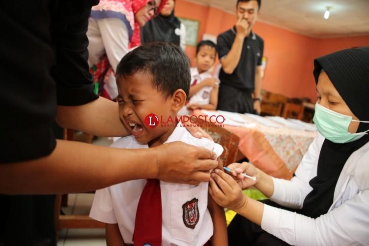 Imunisasi MR di Lamtim Sudah Capai 44,5% dari Target 263.282 Anak
