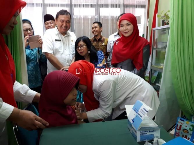 Imunisasi MR, Dinkes Bandar Lampung Bidik 256.965 Anak