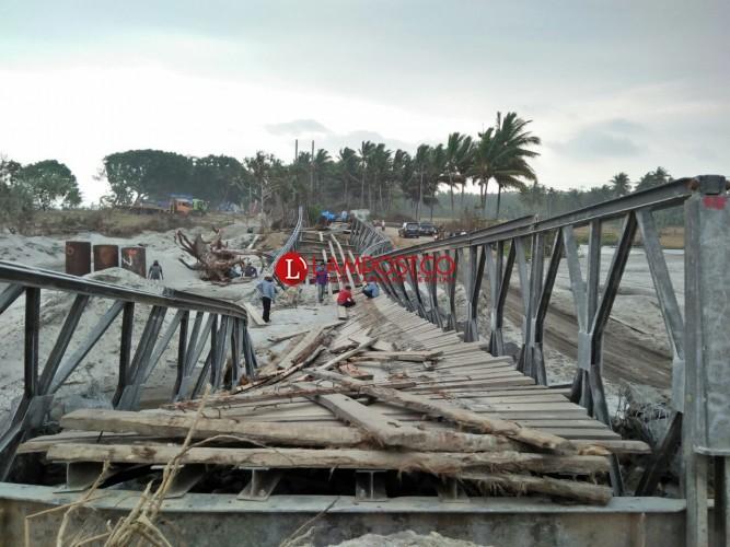 Jembatan Bailey Mandirisejati Telah Mulai Dibongkar