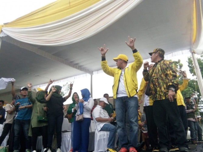 Jurkam Parpol Pengusung Ajak Warga Lampung Pilih Nomor Tiga