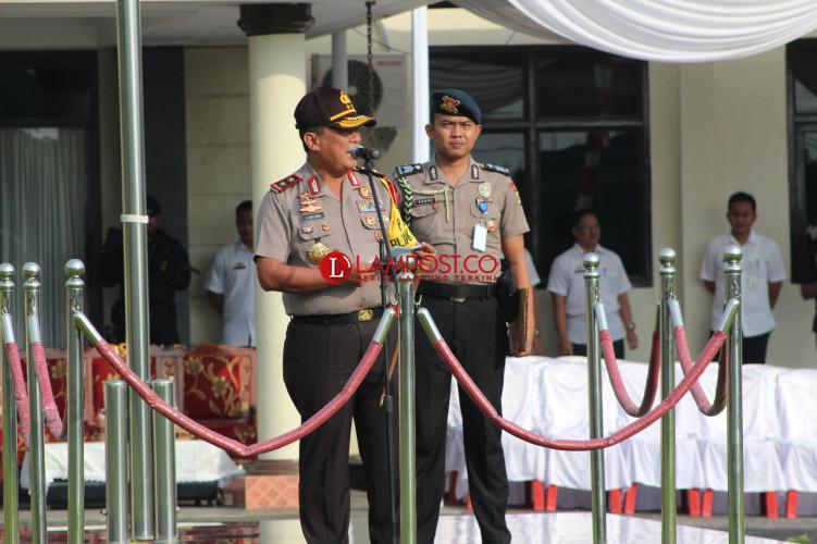 Kapolda Pimpin Apel Tiga Pilar di Lampung Timur