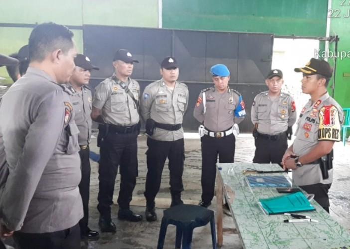 Kapolres Lampung Utara Cek Keamanan Kotak Suara di Gudang KPU