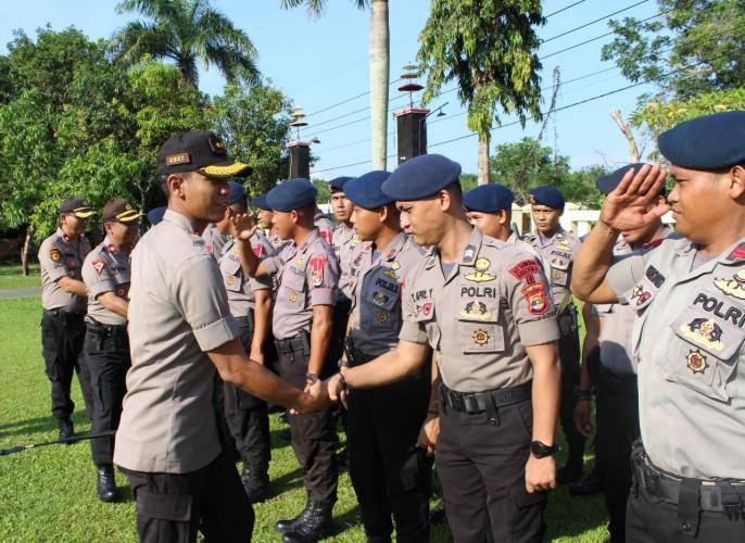 Kapolres Way Kanan Ingatkan 3P dan 3L Kepada Personel Pengamanan Pemilu