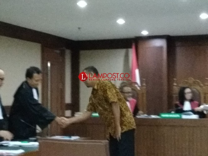 Kasus Suap, Kadis Bina Marga Lamteng Divonis 2 Tahun Penjara