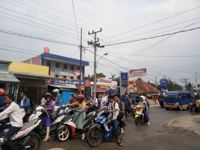Kemacetan di depan Bank Lampung Diakui Manajemen