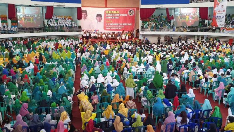 Kiai dan Santri Kaltim Deklarasikan Dukungan Jokowi-Ma'ruf