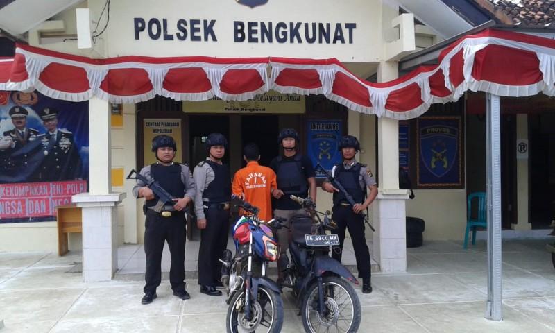 Komplotan Pencuri Motor Kembali Digulung Polsek Bengkunat