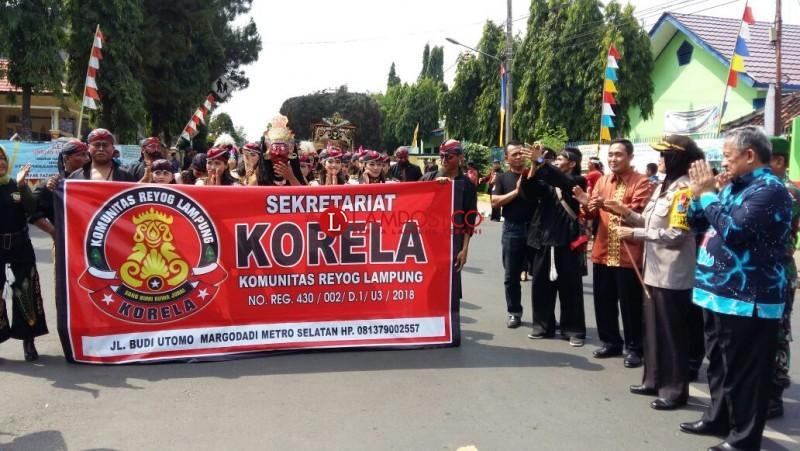 Komunitas Reyog Lampung Gelar Halal Bihalal di Kota Metro