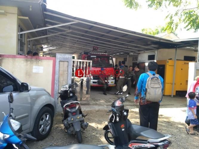 Konsleting Listrik, Kantor Pemkab Pesibar Nyaris Terbakar