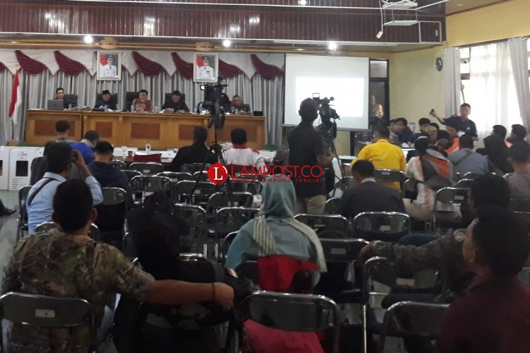 KPU Lambar Gelar Rapat Pleno Tingkat Kabupaten