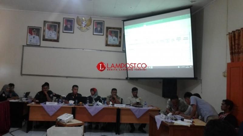 KPU Lamtim Mulai Gelar Pleno Rekapitulasi Tingkat Kabupaten