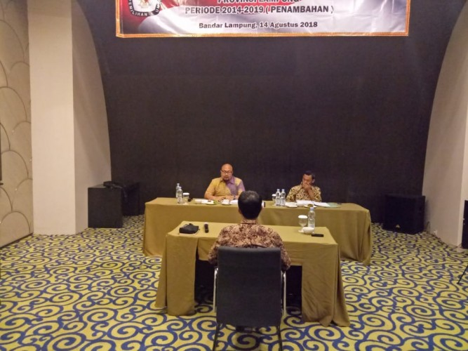 KPU RI Fit and Proper Test Calon Anggota KPU Lampung Tambahan