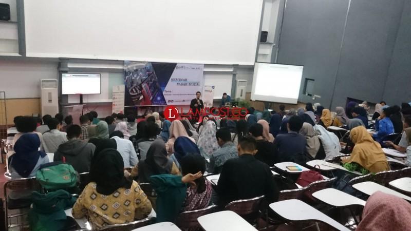KSPM FEB Unila Gelar Seminar Pasar Modal