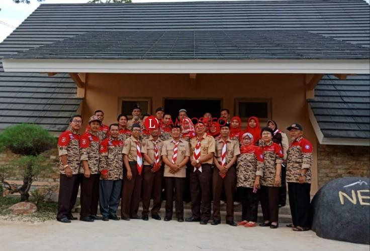 Kwarcab Tubaba Kirim 15 Pembina Ikuti Kemah Nasional di Jawa Timur