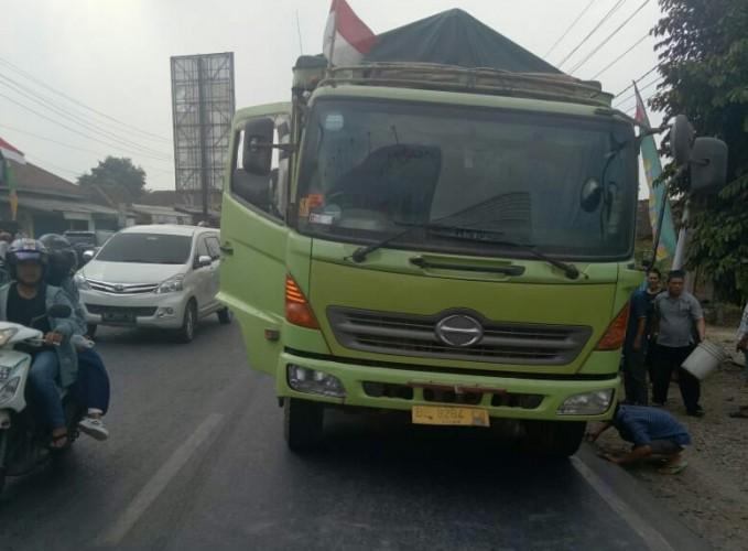Lakalantas, Perawat Meninggal Terlindas Truk di Jalinsum Natar